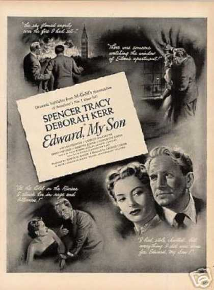"Movie Ad ""Edward My Son"" Spencer Tracy (1949)"