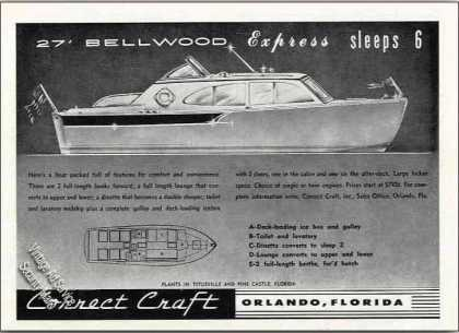 Correct Craft 27' Bellwood Express Boat Drawing (1955)