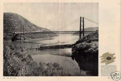 Magazine Photo/new York Central Bear Mtn. Bridge (1950)