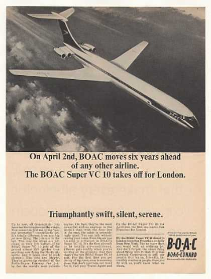 BOAC Super VC 10 Jet to London Photo (1965)