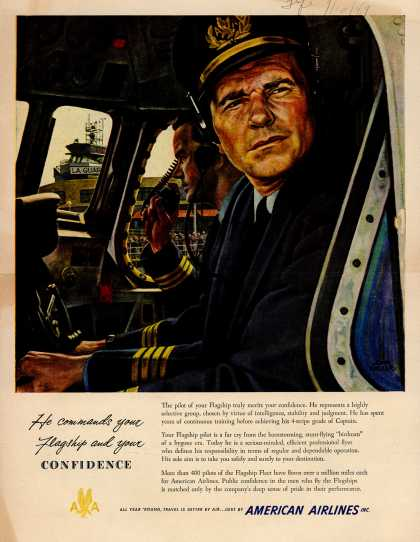 American Airlines – He Commands Your Flagship and Your Confidence (1949)