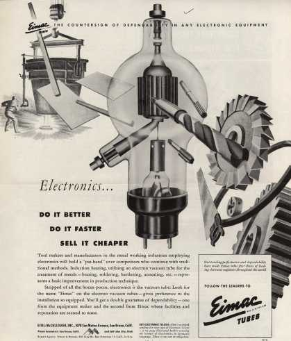 Eitel-McCullough's Eimac tubes – Electronics... Do It Better, Do It Faster, Sell It Cheaper (1945)
