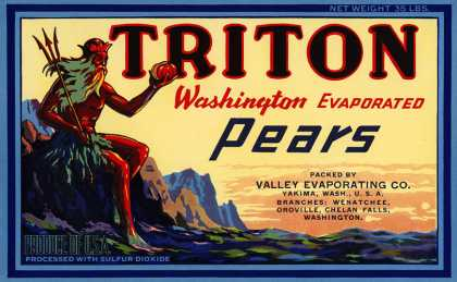 Triton Evaporated Pears, c. s (1920)