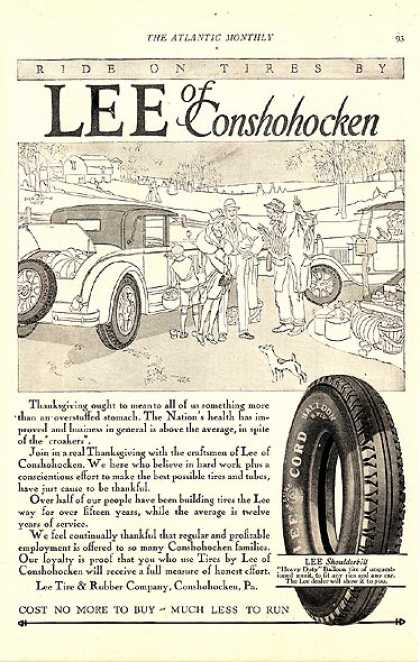 Lee of Conshohocken's Lee Shoulderbilt Tire (1927)