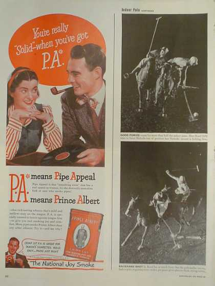Prince Albert Tobacco. The national joy smoke (1947)