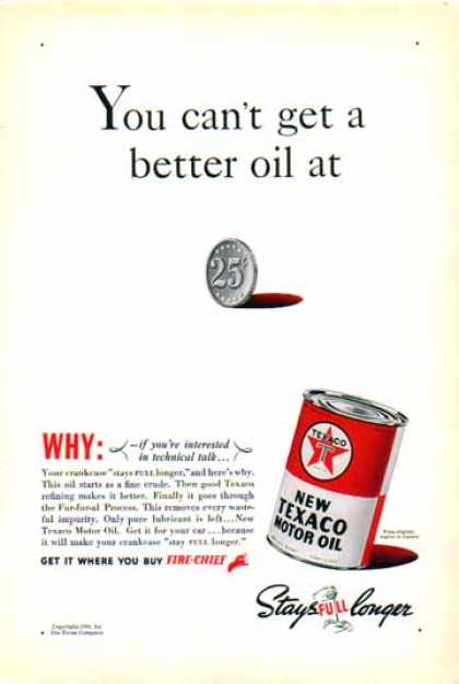 Texaco Motor Oil – Color by The Texas Company (1938)