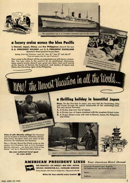 American President Line's Japan – Now! The newest Vacation in all the World... (1949)