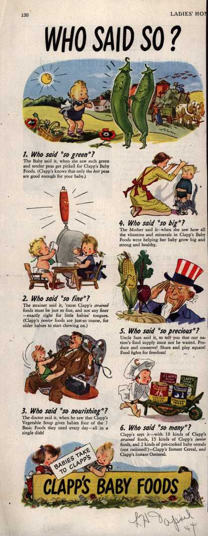 Clapp's – Who said so? (1944)