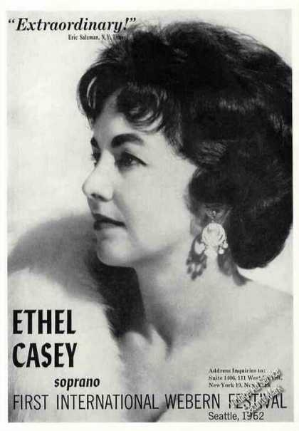 Ethel Casey Photo Soprano Nice Trade (1963)