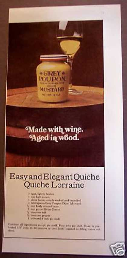 Grey Poupon Mustard Recipe for Quiche Lorraine (1975)