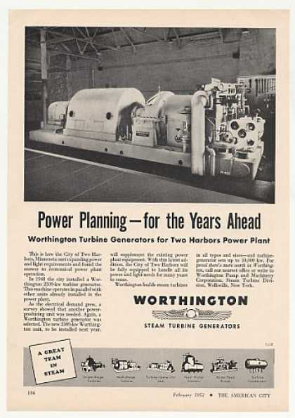 Two Harbors MN Worthington Turbine Generator (1952)