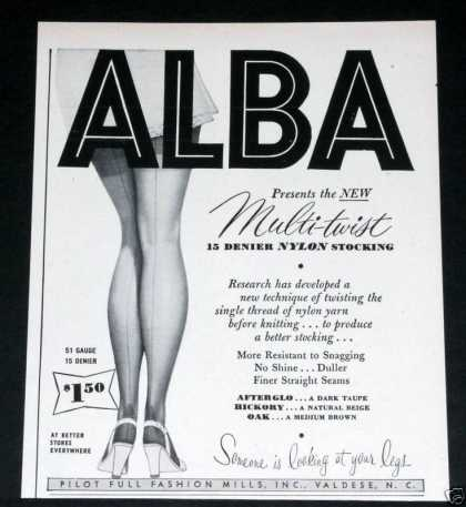Old , Alba Nylon Stockings, Wow (1949)