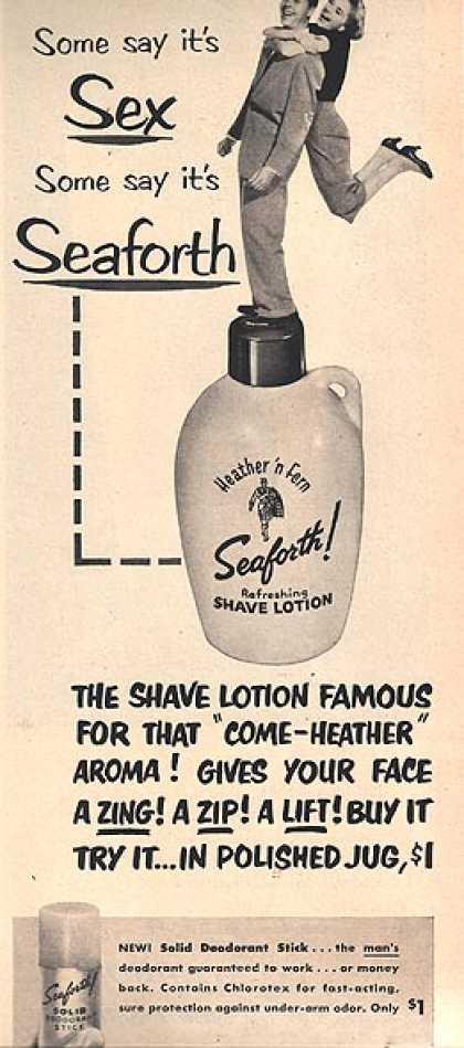 Seaforth's Heather 'n Fern Shaving Lotion (1953)