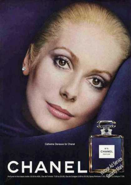 Beautiful Catherine Deneuve for Chanel (1974)