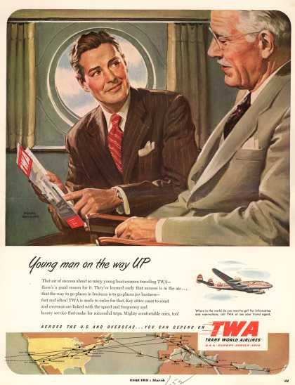 Trans World Airlines – Young man on the way up (1952)