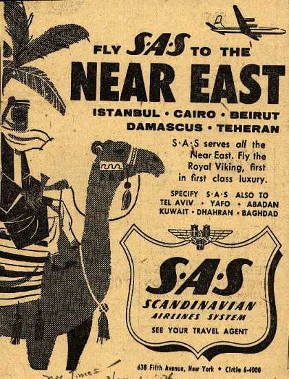 Scandinavian Airlines System's Near East – Fly SAS to the Near East (1954)