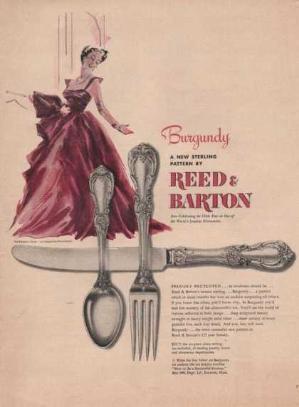 Burgundy Pattern Reed & Barton Sterling (1949)