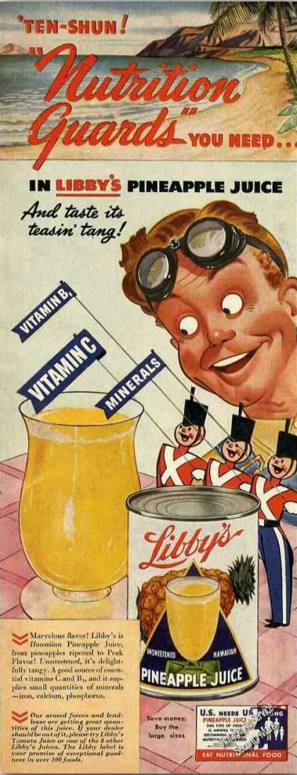 "Libby's Pineapple Juice ""Nutrition Guards"" (1942)"