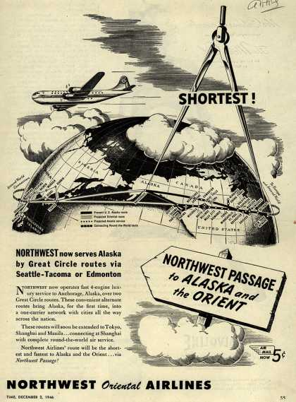 Northwest Airline's Alaska and Orient – Shortest (1946)