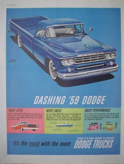 Dashing 59 Dodge Truck The truck with the most (1959)