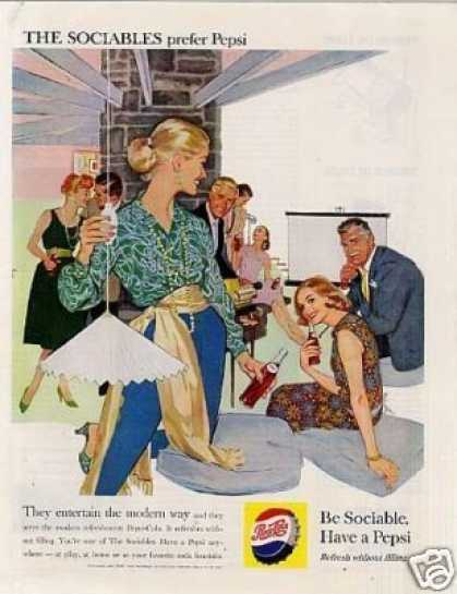 "Pepsi-cola Ad ""They Entertain the Modern... (1959)"
