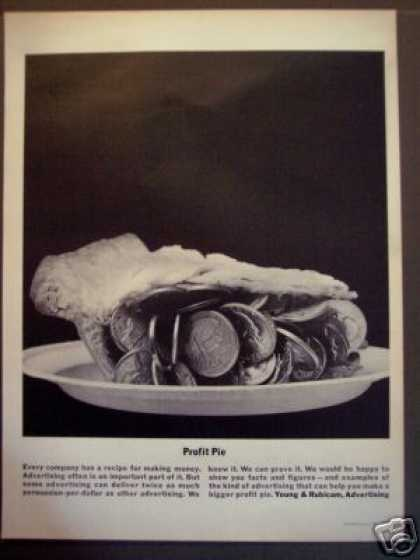 Young & Rubicam Advertising Profit Pie (1963)