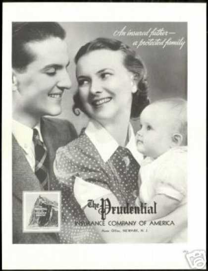 Prudential Insurance Co Vintage Family Photo (1938)