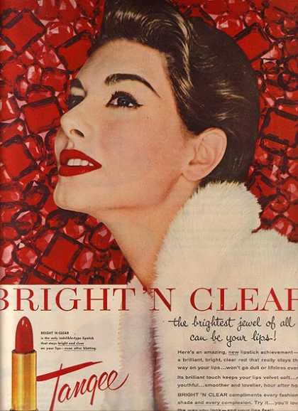 "Tangee's Bright ""n Clear Lipstick (1954)"