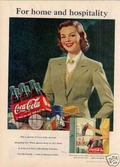 "Coca-cola Ad ""For Home and Hospitality... (1951)"