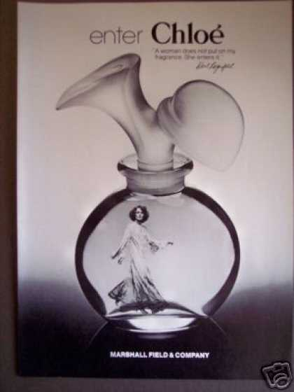 Chloe Perfume Bottle Marshall Field & Co (1976)