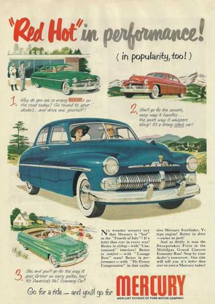 Red Hot In Performace Mercury Car (1950)