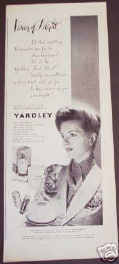 Diana Foster Yardley Bond Street Perfume Beauty (1943)