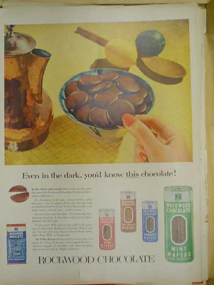Rockwood Chocolate. Even in the dark you would know this chocolate (1953)
