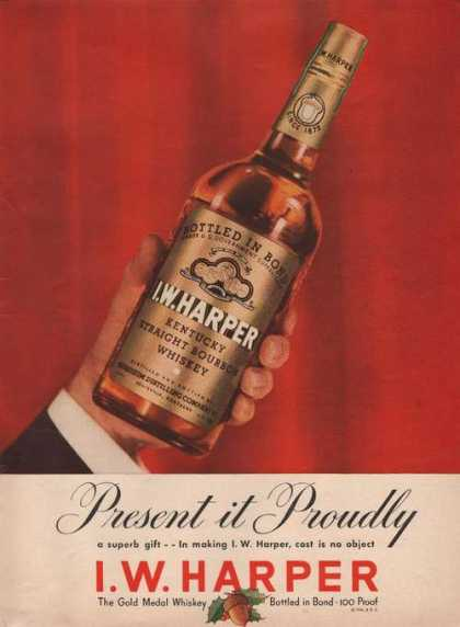 I W Harper Kentucky Bourbon Whiskey Print (1941)