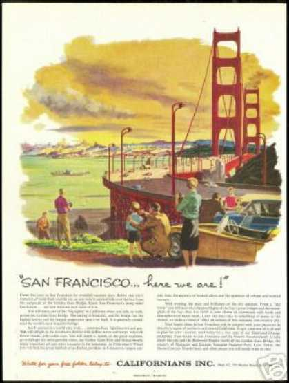 San Francisco Golden Gate Bridge Travel (1959)