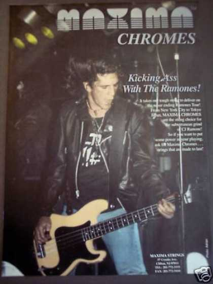 The Ramones Maxima Chromes Guitar Strings Music (1992)