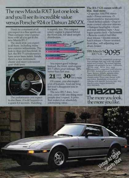 Mazda Rx-7 Nice Photo Collectible (1981)