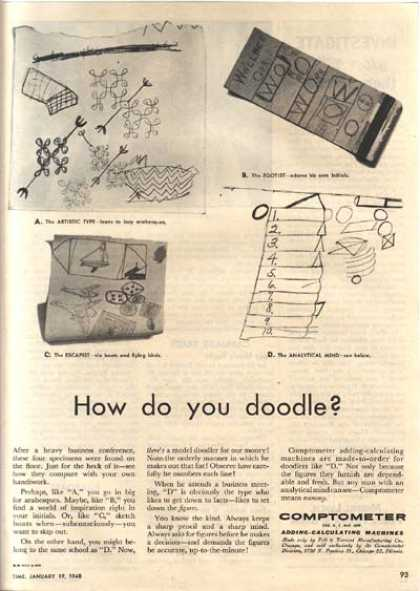 "Comptometer (""How do you doodle?"") (1948)"