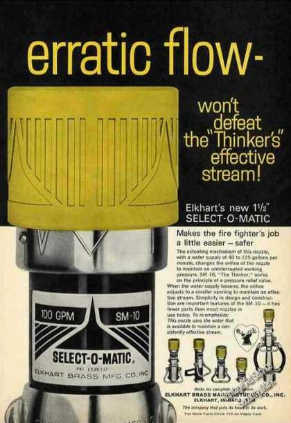 Elkhart Brass Select-o-matic Fire Nozzle (1972)