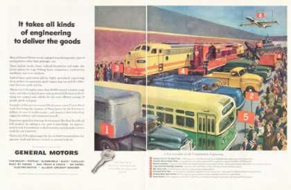 General Motors Truck Locomotive Train Bus Jet (1952)