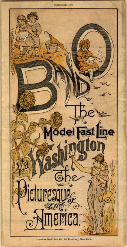 Baltimore and Ohio Railroad's railway – travel – B and O The Model Fast Line via Washington (1882)