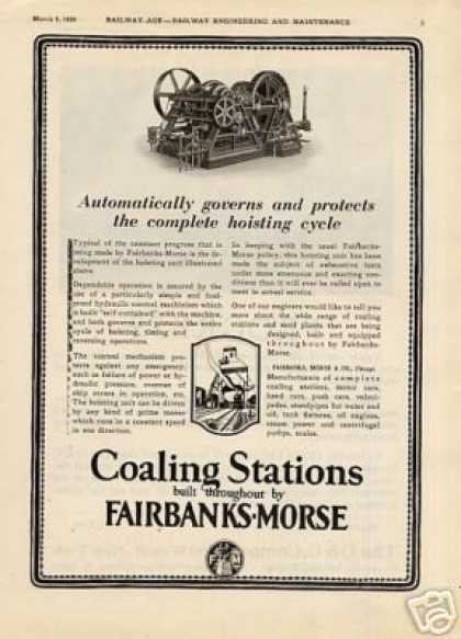 Fairbanks-morse Ad Coaling Station Hoisting Unit (1926)