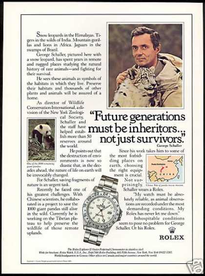 Rolex Explorer II Watch George Schaller (1985)