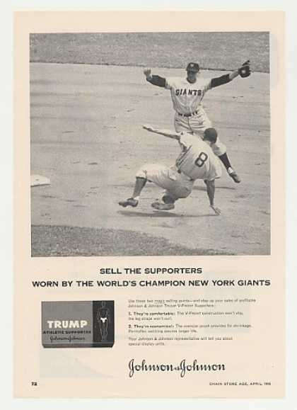 NY Giants J&J Trump Athletic Supporter Photo (1955)