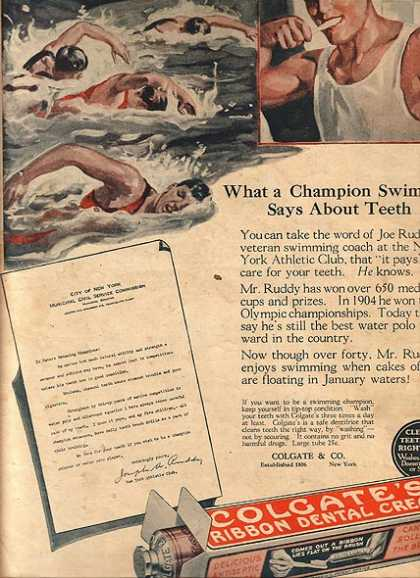 Colgate's Ribbon Dental Cream (1924)