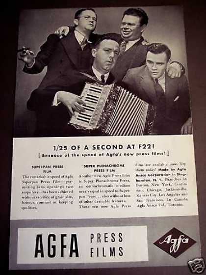 Agfa Press Camera Film Accordion Photo (1938)