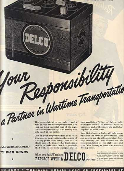 Delco's Auto Batteries (1944)
