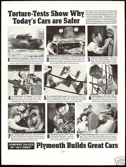 Plymouth Safer Car 9 Tests Photo Vintage (1938)
