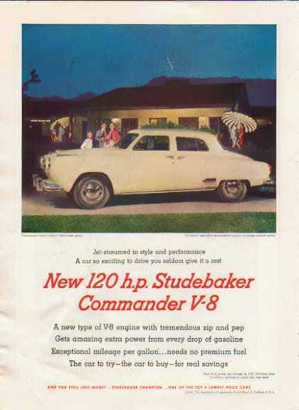 Studebaker Commander V-8 Car – White (1951)