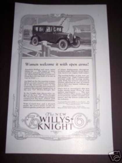 Original Willys Knight Car Automobile (1926)